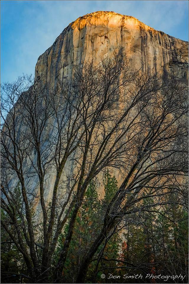First Light on El Capitan, Yosemite Valley, Yosemite