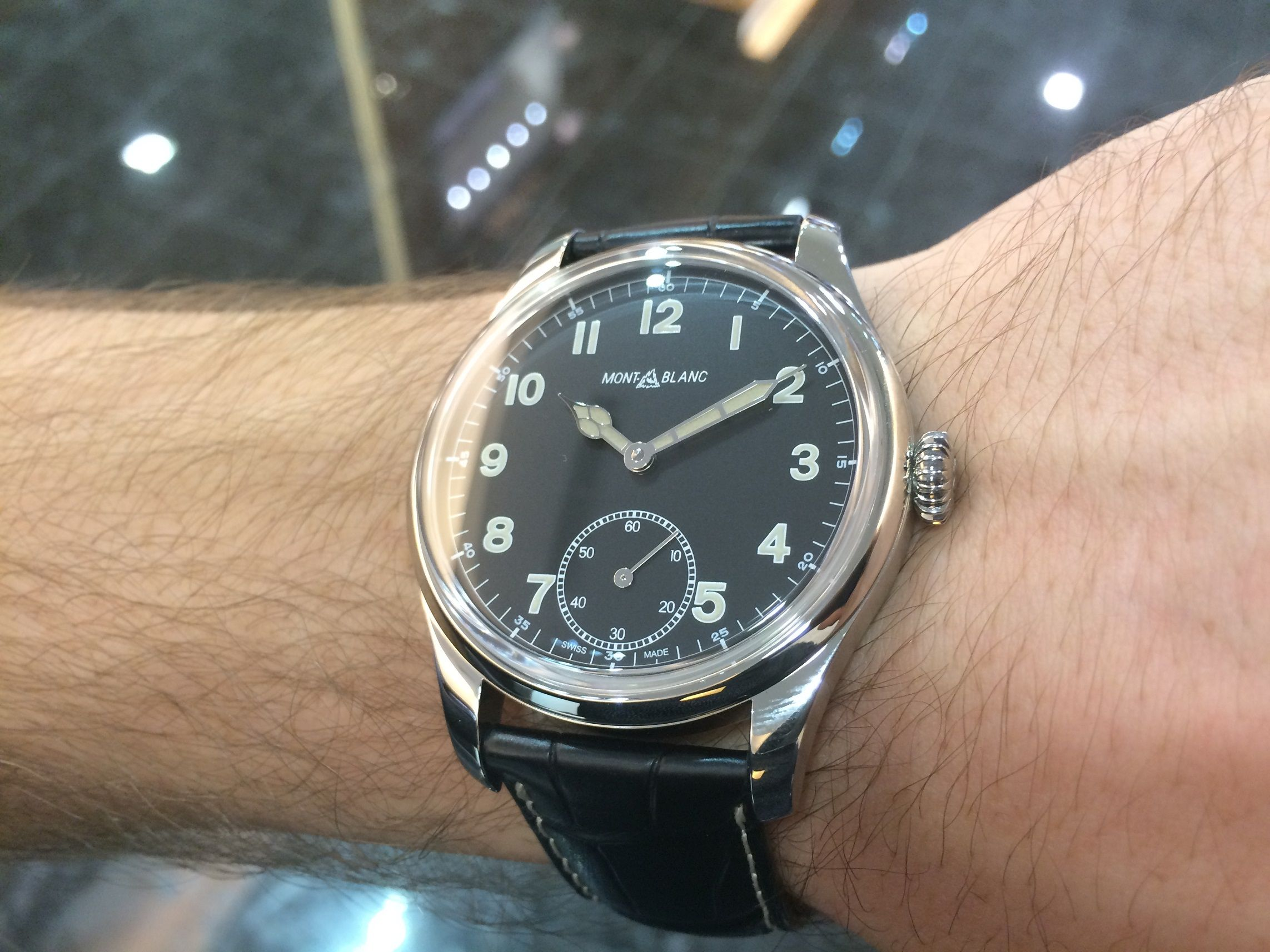 6f0d1aa5273 Montblanc 1858 Small Second manual limited edition 858 pieces ...