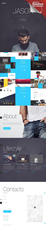 Designer Portfolio Responsive Joomla Template | Template and Site ...