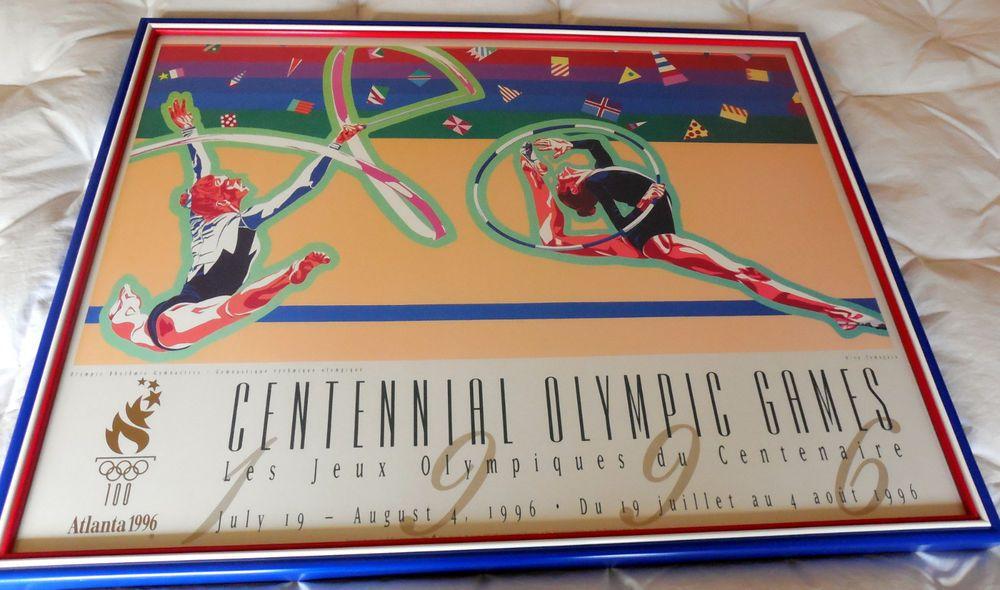 Atlanta 1996 CENTENNIAL OLYMPIC GAMES GYMNASTICS Poster