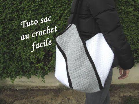 TUTO SAC AU CROCHET FACILE Easy bag crochet BOLSO CROCHET BOLSA DE GANCH... -