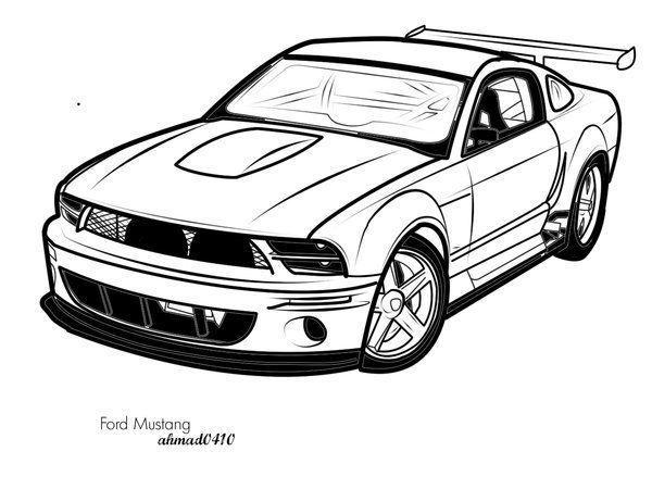 Ford Mustang Vector Art By Ahmad0410 On Deviantart