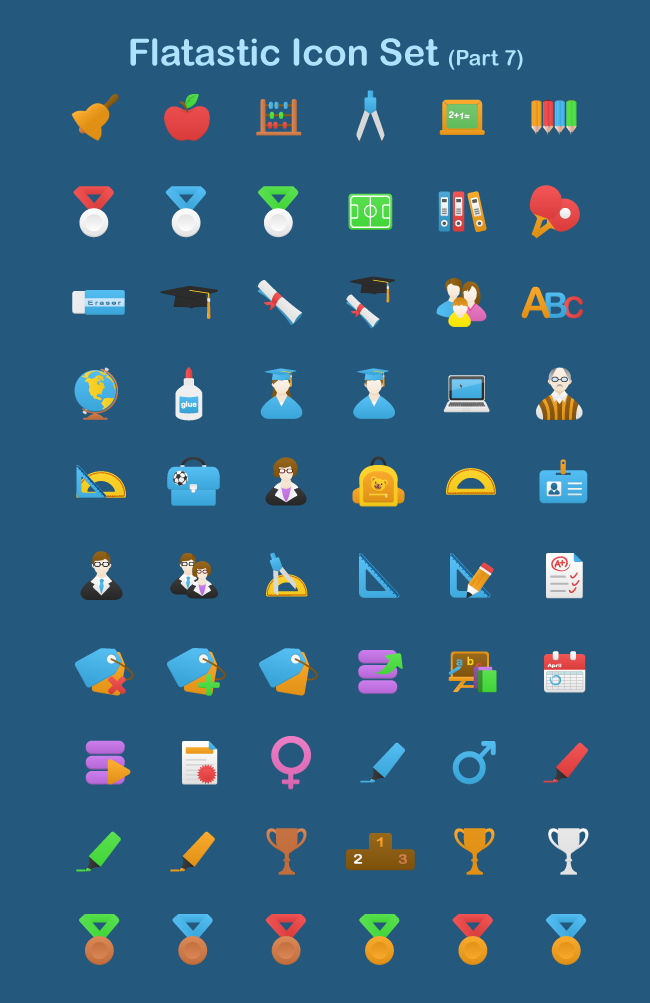 You can also download 420 more icons from Flatastic Bundle