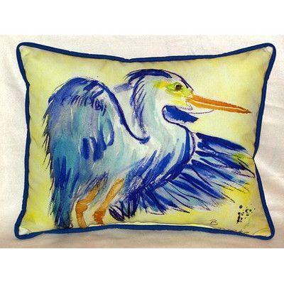 Betsy Drake Interiors Heron Indoor/Outdoor Lumbar Pillow