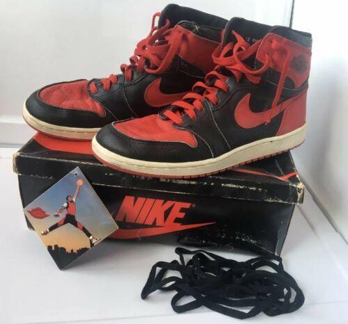 the latest 233c0 d0f08 1985 Nike Air Jordan 1 Original Red Black Size  12