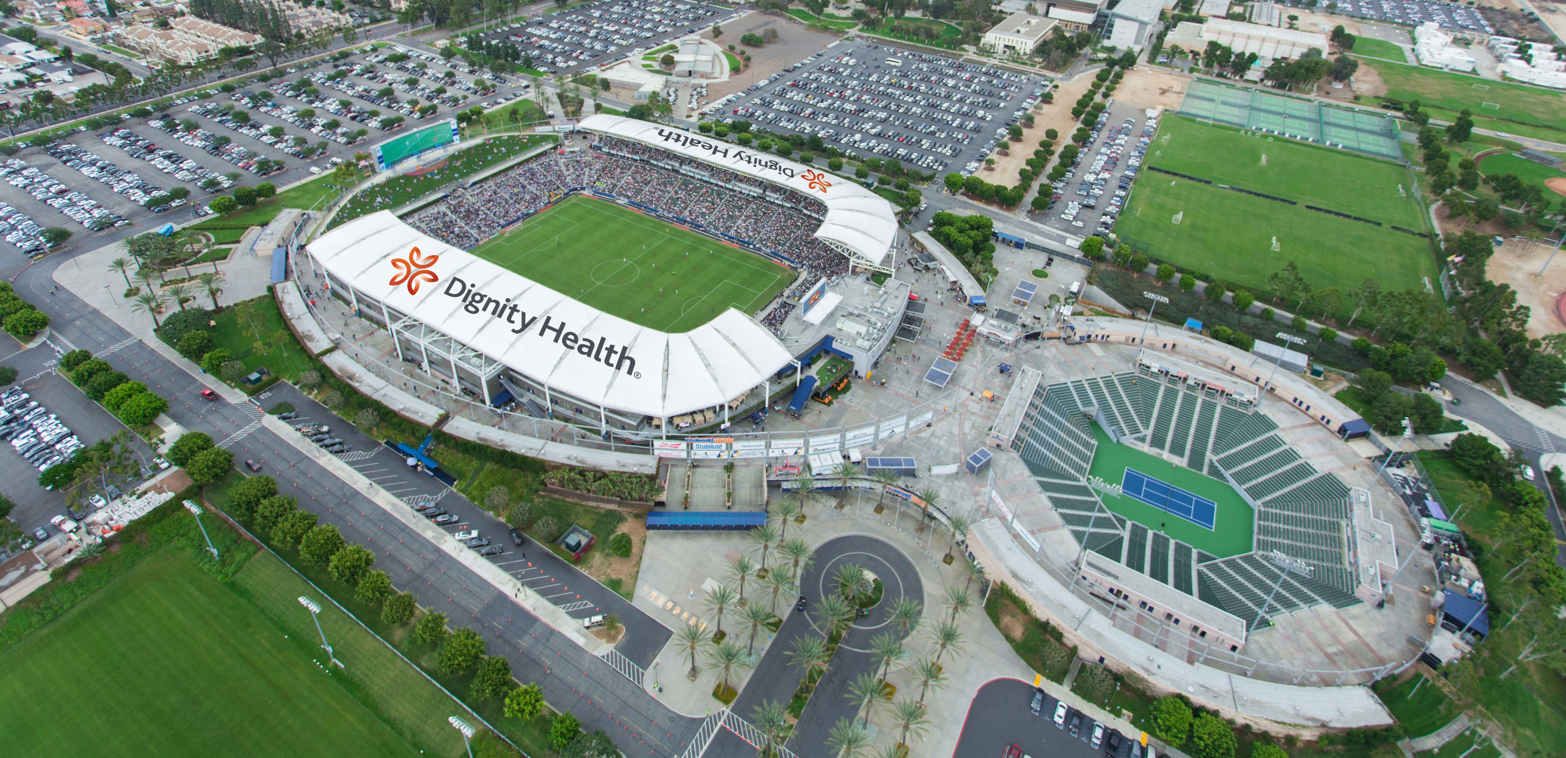 Aeg Announces New Partnership With Dignity Health Renames La Galaxy Home Stadium Dignity Health Sports Park Dignity Health Sp Sport Park Image House Stadium
