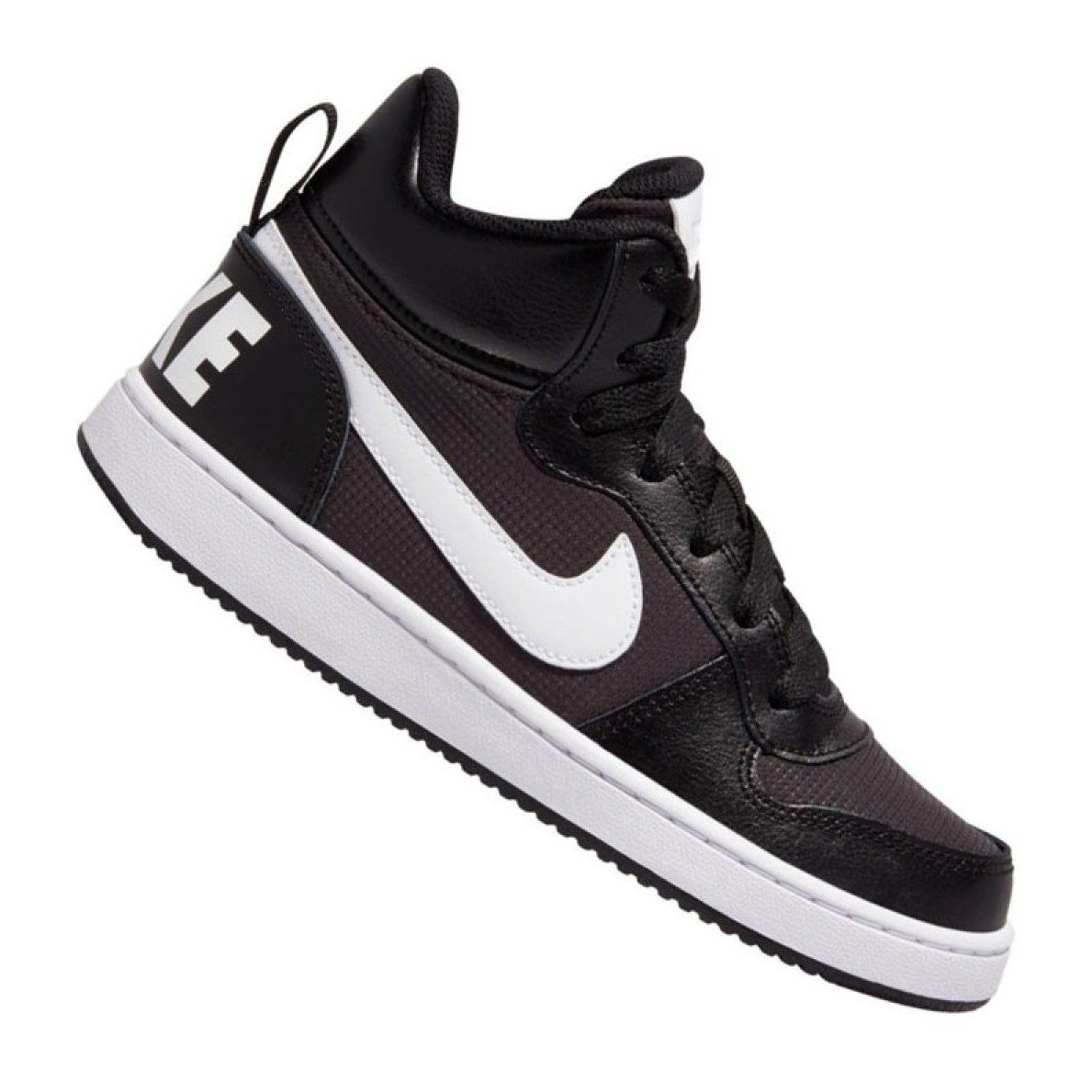 Nike Court Borough Mid Pe Gs Jr Bv1607 001 Shoes Black Nike Shoes Women Junior Shoes Nike