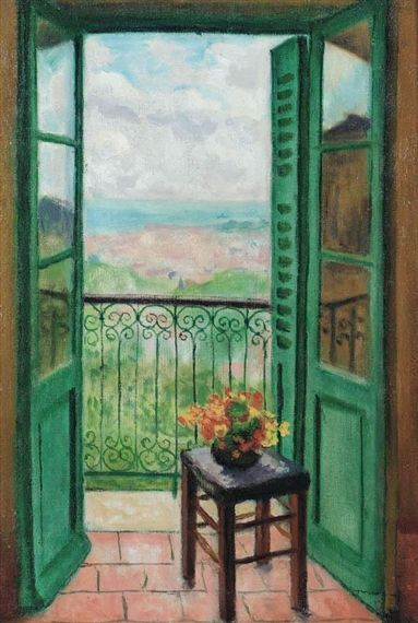 Albert marquet fenetre ouverte sur la baie on for Fenetre baie window prix