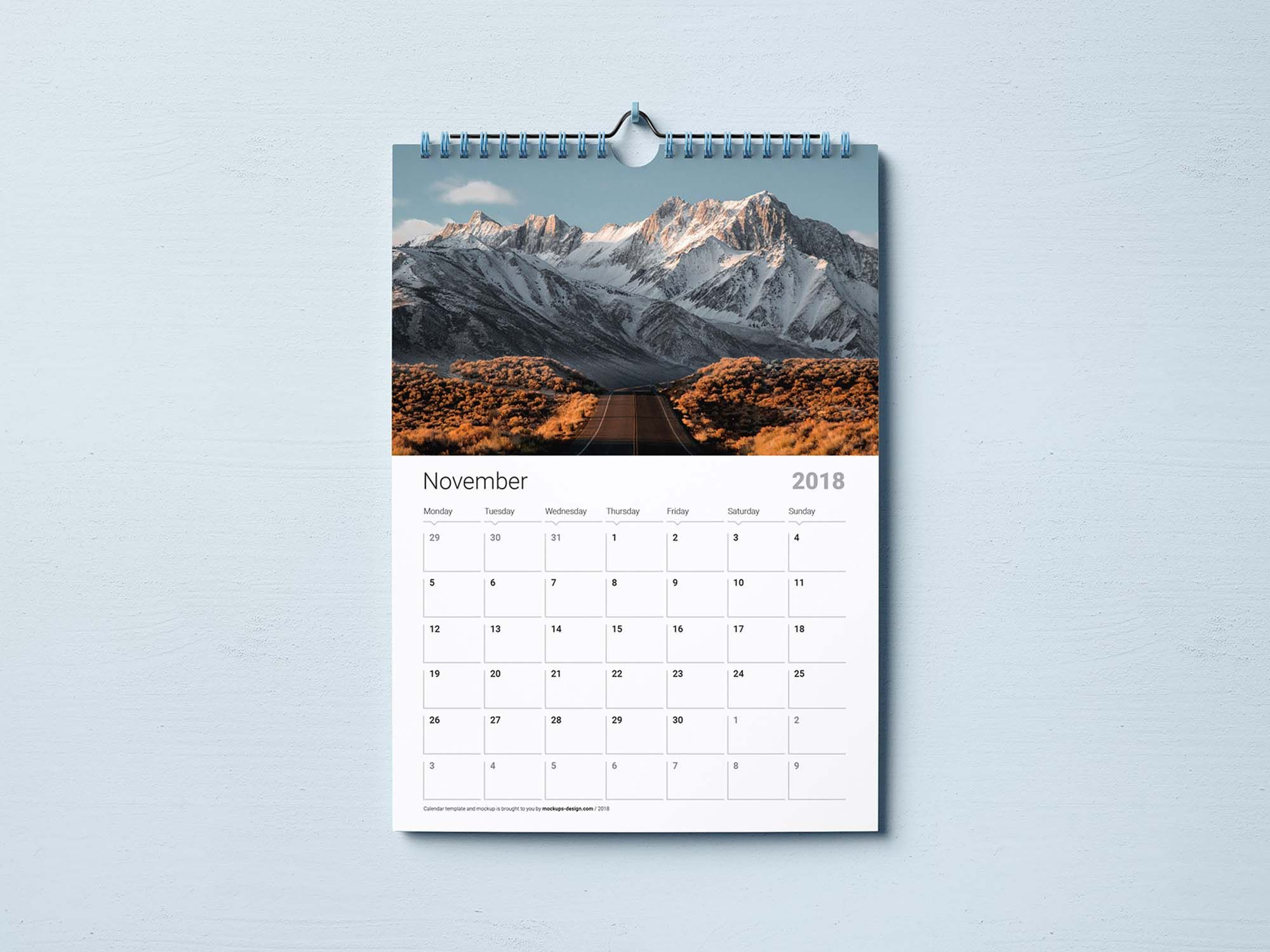 Free Wall Calendar Mockup Template Psd Free Wall Calendar Wall Calendar Design Wall Calendar