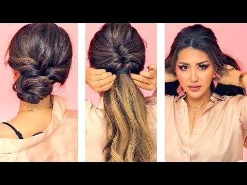 1 Min Everyday Hairstyles For Work With Puff Easy Braids Amp Updo For Long Medium Hair Youtube Symboyles Gia Mallia Mallia Symboyles