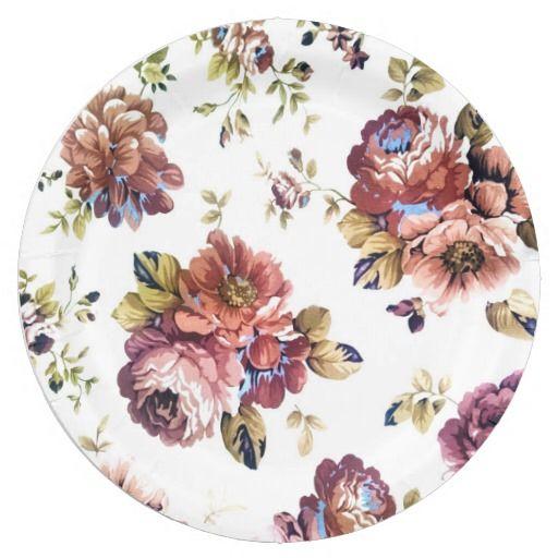 Vintage roses on paper plates | Vintage roses, Rose and Vintage
