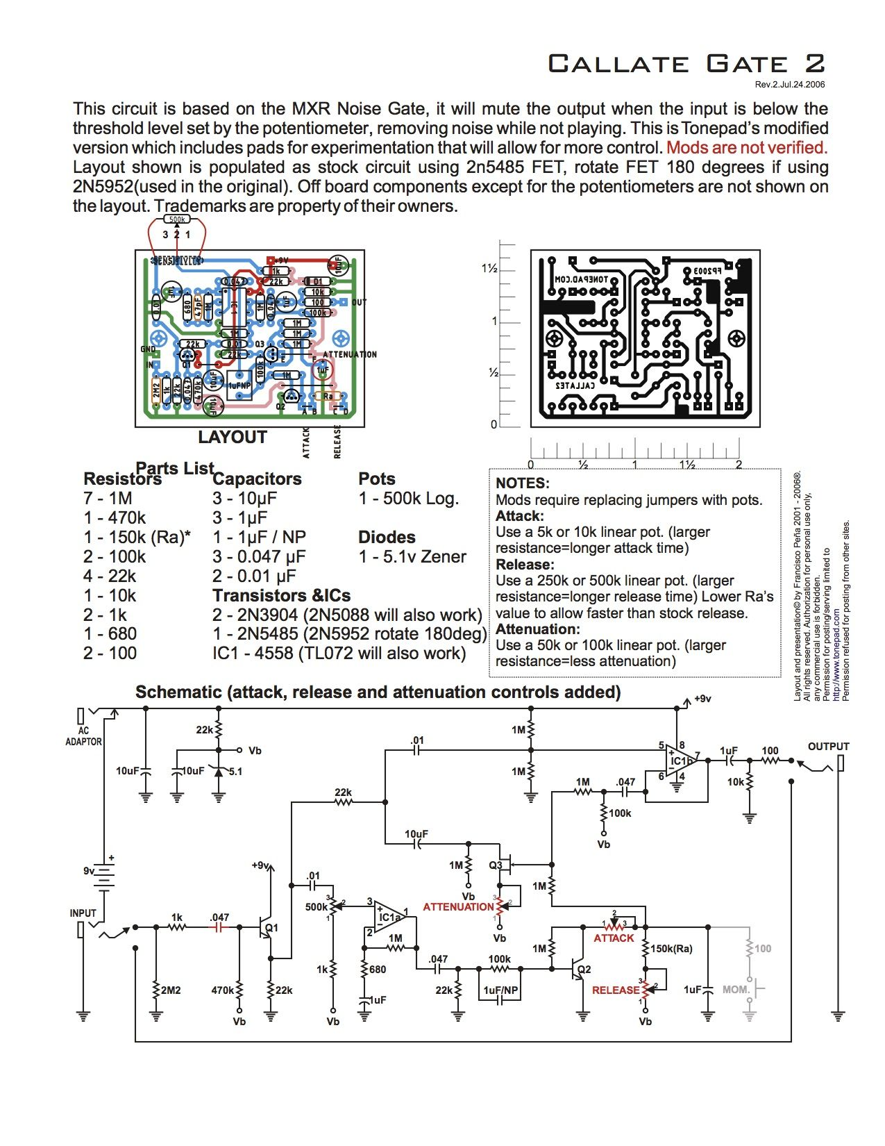 Noise Gate Circuit Wiring Diagram Master Blogs Radio Frequency Controlcircuit Seekic This Is Based On The Mxr Guitar Effects Rh Pinterest Com