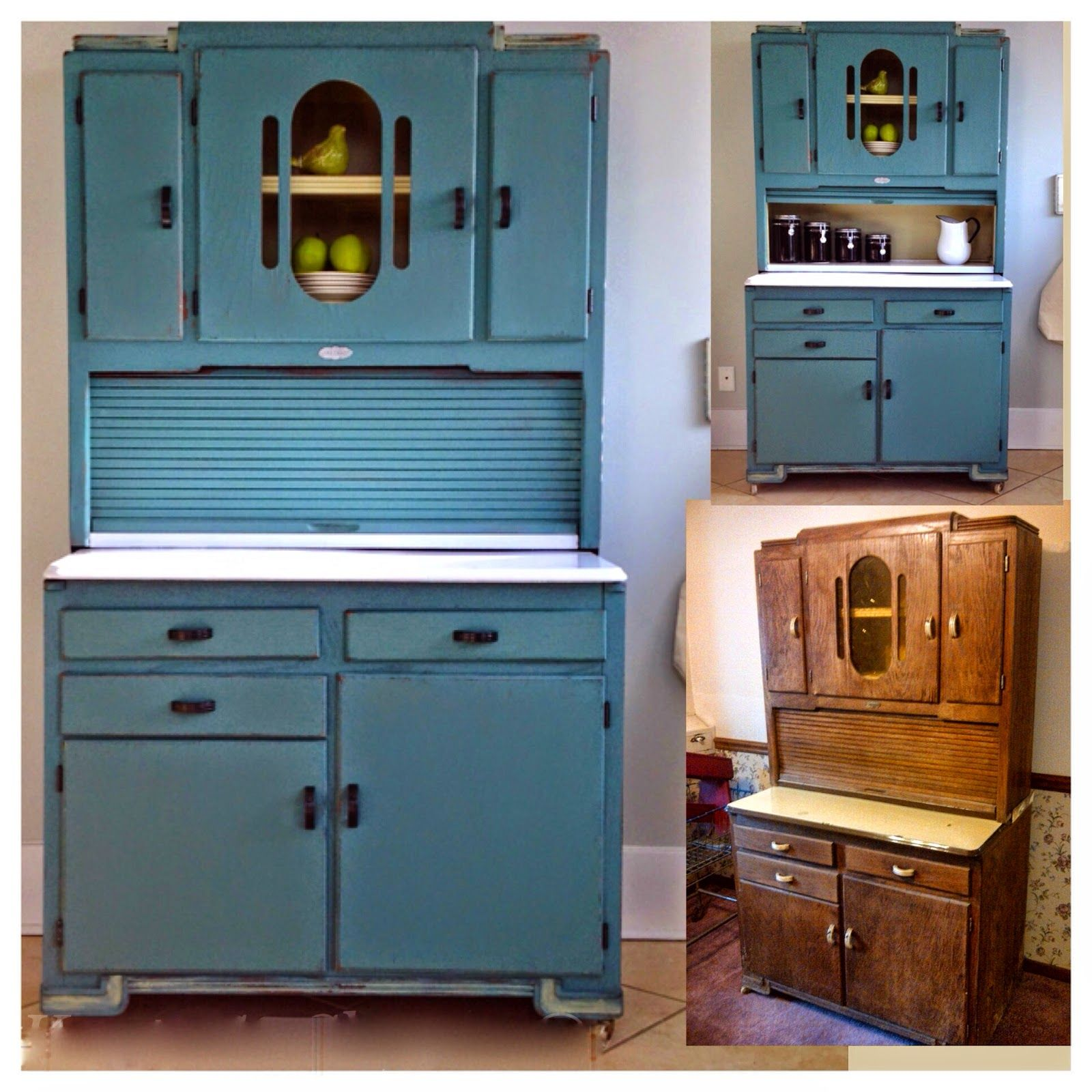 Refurbished Kitchen Cabinets: Old Hoosier Cabinet Refurbished By Bliss And Blossom