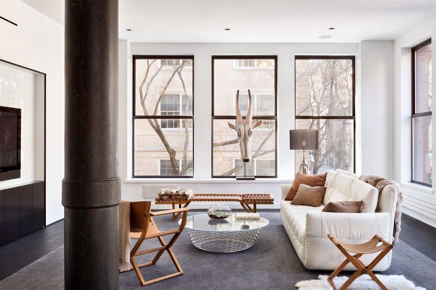 Sophisticated Masculine Loft Apartment In Soho New York City Master Bedroom Interior Design Loft Apartment Beautiful Bedrooms Master