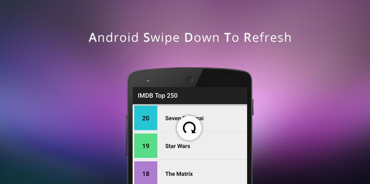 Android Swipe Down To Refresh Listview