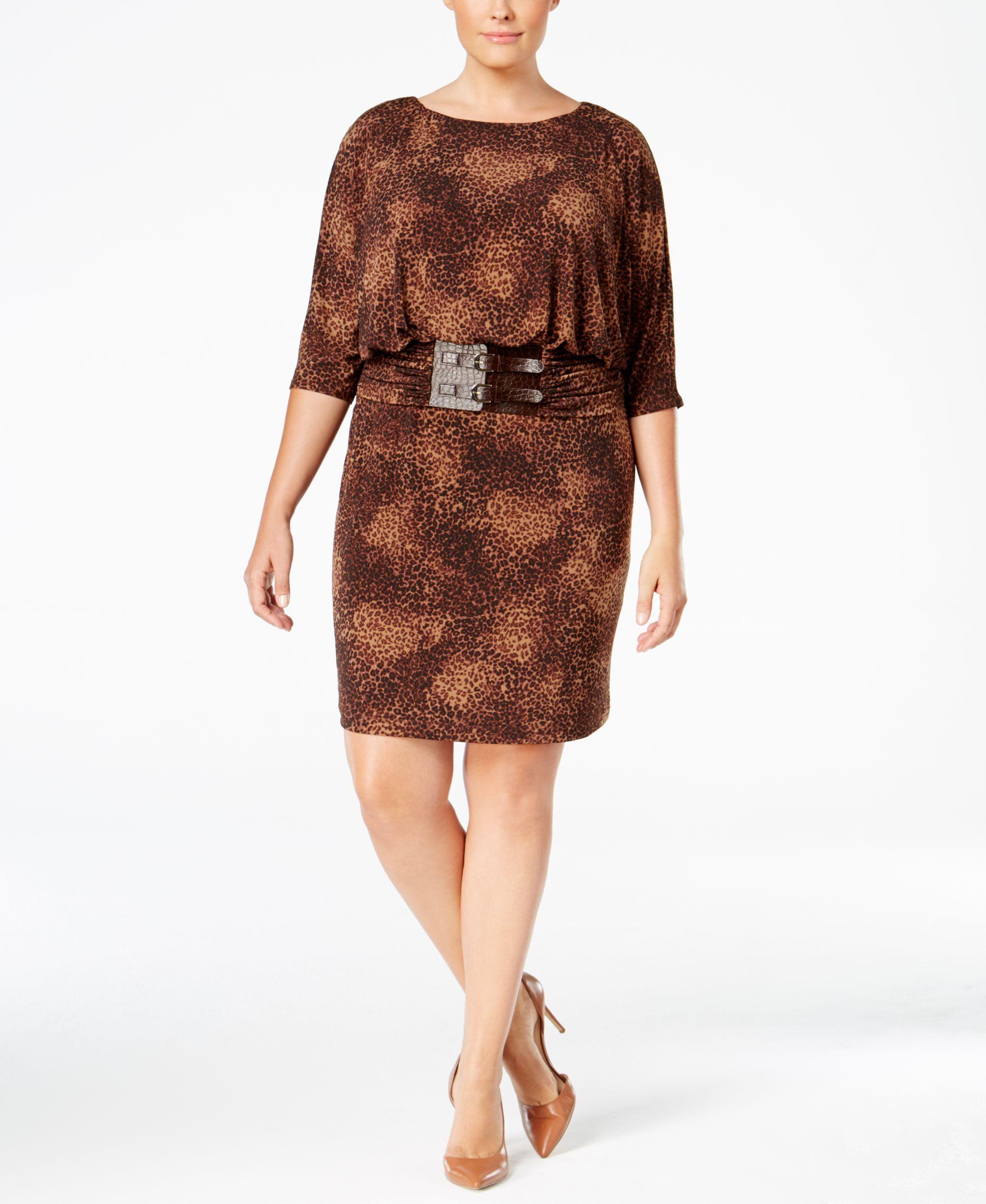 b30d7667edb14 Jessica Howard Animal-Print Ruched-Waist Sheath Dress | Products