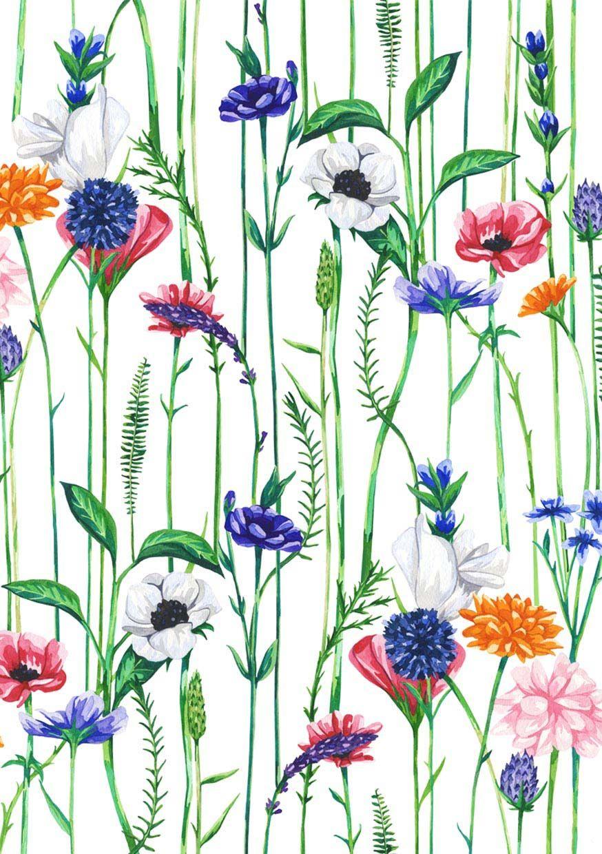 Bijou Botanicals Sophie Brabbins Floral Prints Print Patterns
