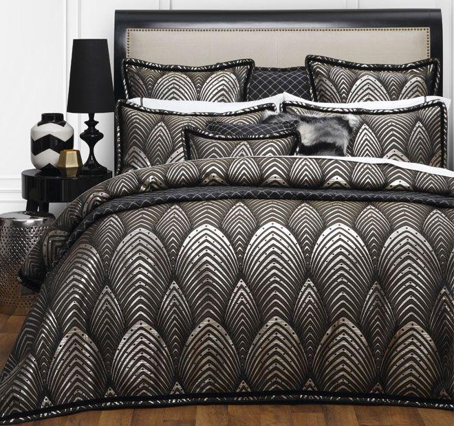 Lancelot Black DAVINCI Create bold, bedroom drama with the Art ... : black quilted coverlet - Adamdwight.com