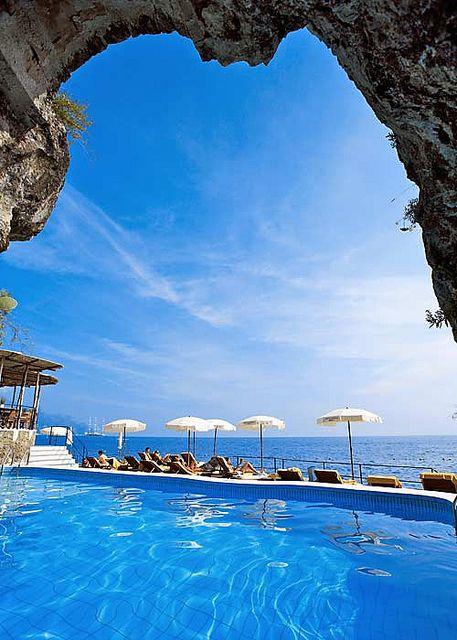 The Pool At Hotel Santa Caterina Of Amalfi Italy And