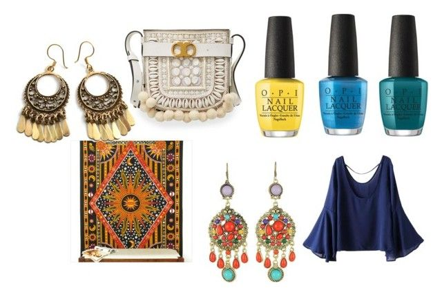 """""""Boho"""" by efrat-kazoum ❤ liked on Polyvore featuring OPI, WithChic and Tory Burch"""
