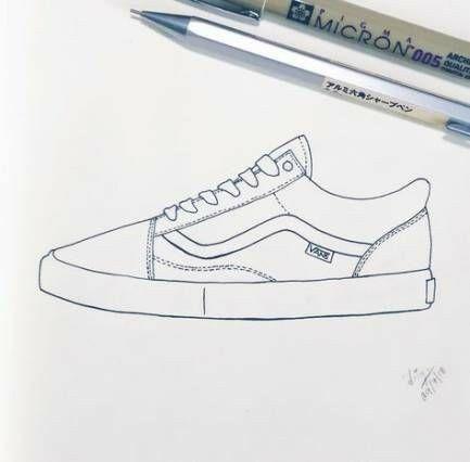 vans schuhe zeichnen tutorial