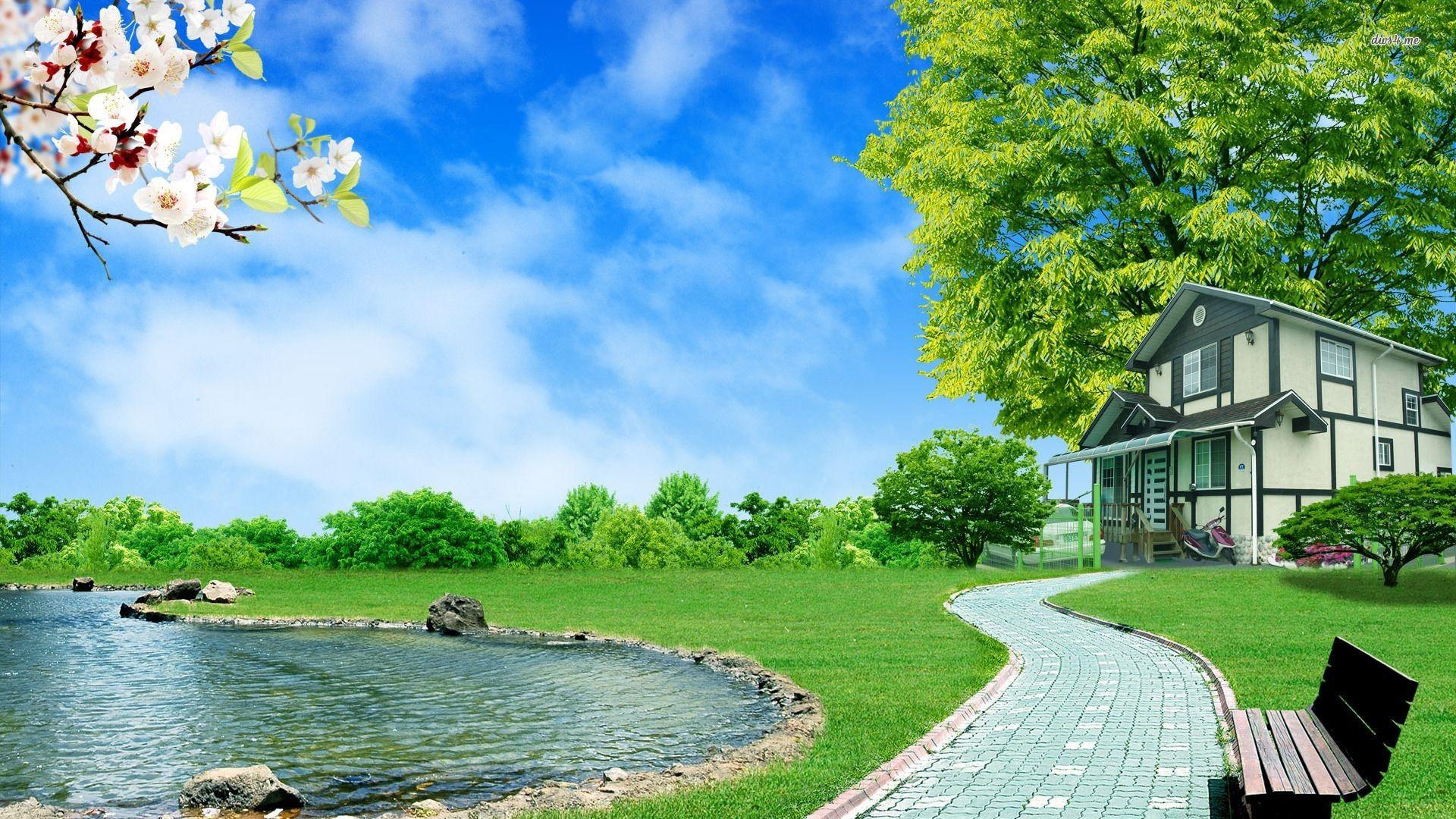 Summer, Landscape, Full, HD, Wallpaper ...