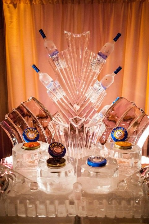 Ice Sculptures And Bars For The Wedding Reception