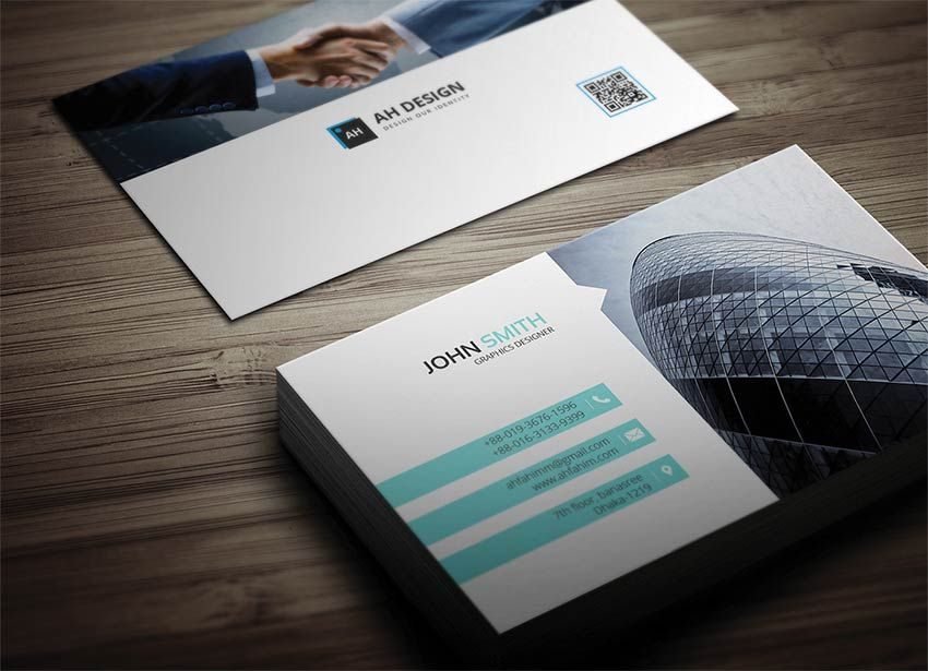 Free Corporate Business Card Business Card Mockup Psd Free