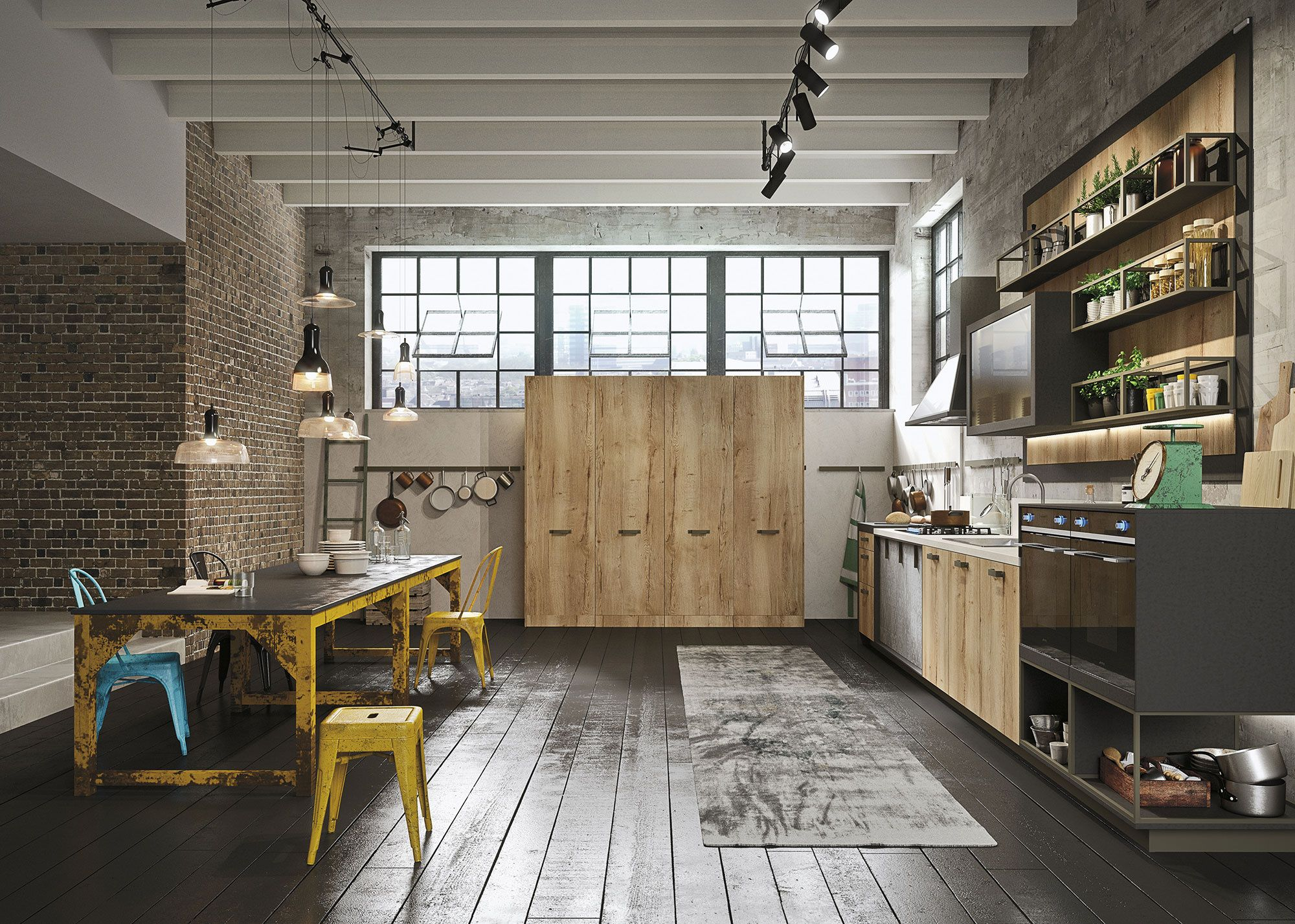 Kitchen Design for Lofts 3 Urban Ideas from Snaidero Urban loft