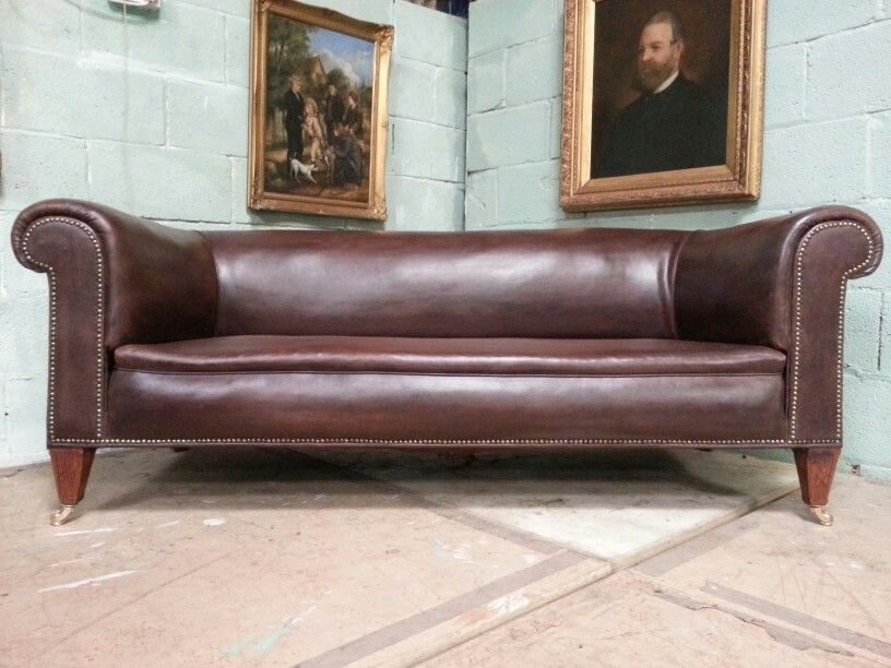 Antique Victorian Leather Chesterfield Sofa C1880 Www