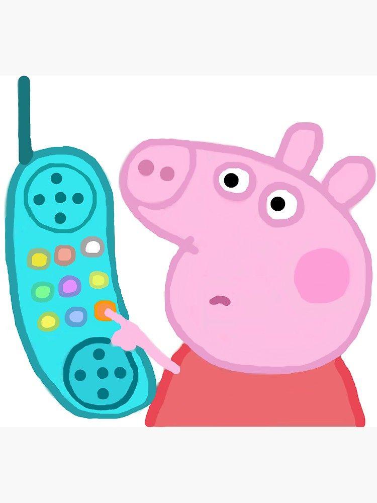 Peppa Pig Hanging Up Sticker Sticker By Gaylegend Redbubble