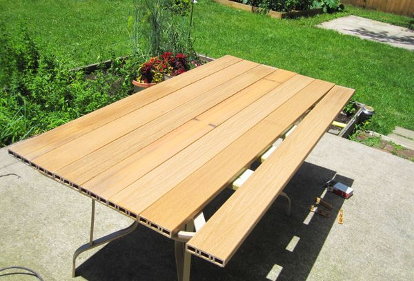 Replace A Broken Patio Table Top Kitchy Crafty White