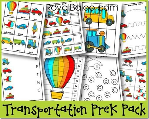 Transportation Printables For Preschool With ABCs, Numbers