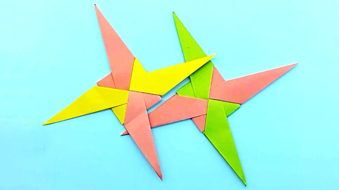 How To Make 8 Pointed Transforming Ninja Star - Step by Step ... | 720x1280