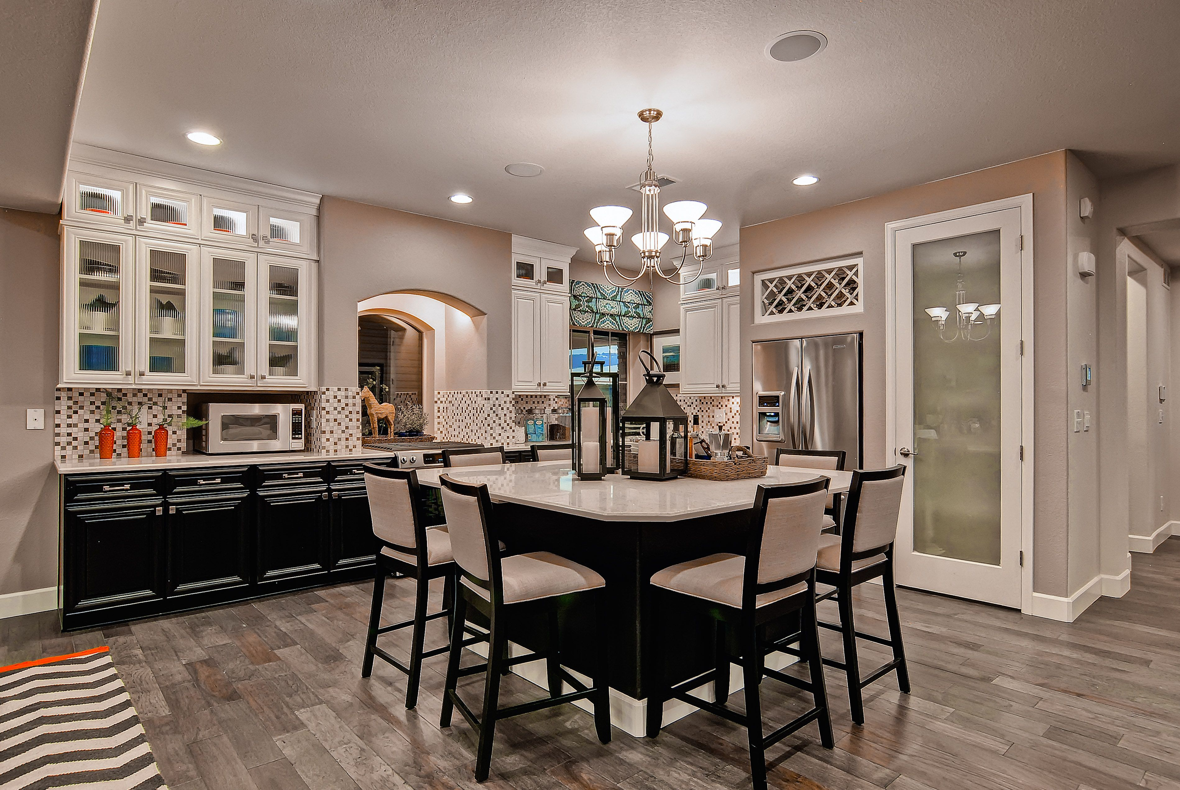 Black, white and grey kitchen-The Telluride by Oakwood Homes.