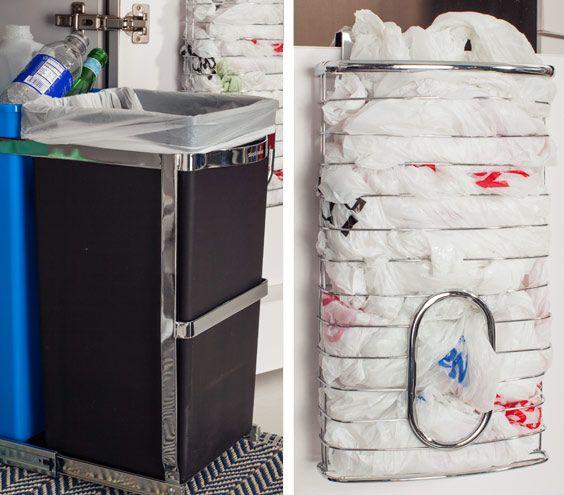Easy Under-the-Sink Storage Ideas | Plastic bag holders ...