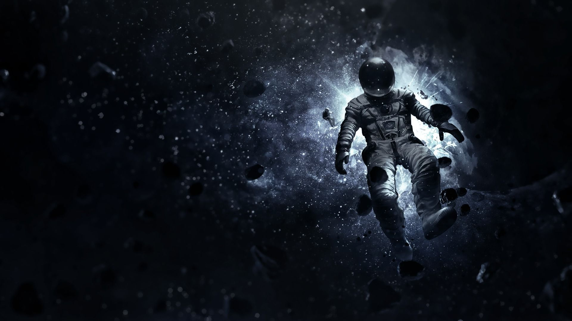 Astronaut Floating In Space Wallpaper Space Art Astronaut Art Astronaut Wallpaper