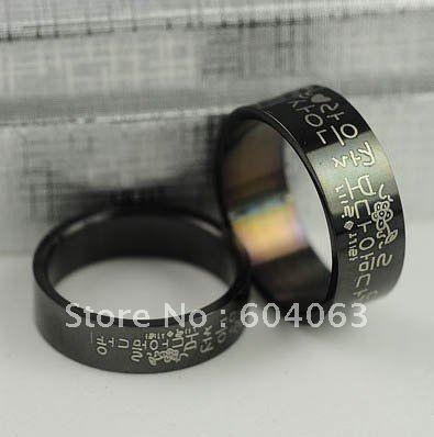100Pcs Men's Women's Korean Couple Ring Titanium Stainless ...