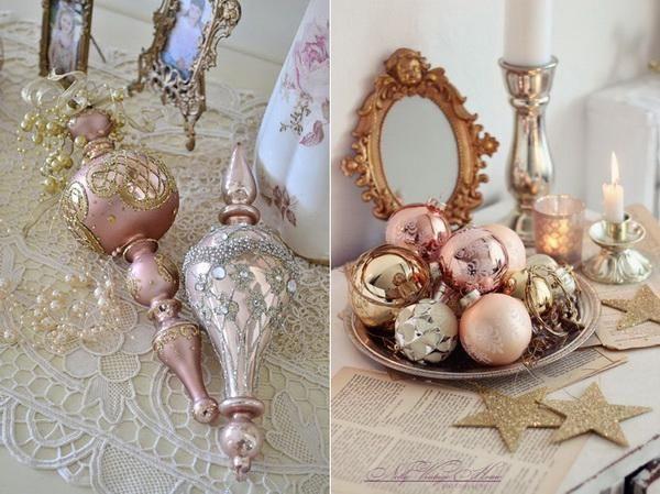 Handmade Pastel Christmas Decorations Ideas - Decorating design