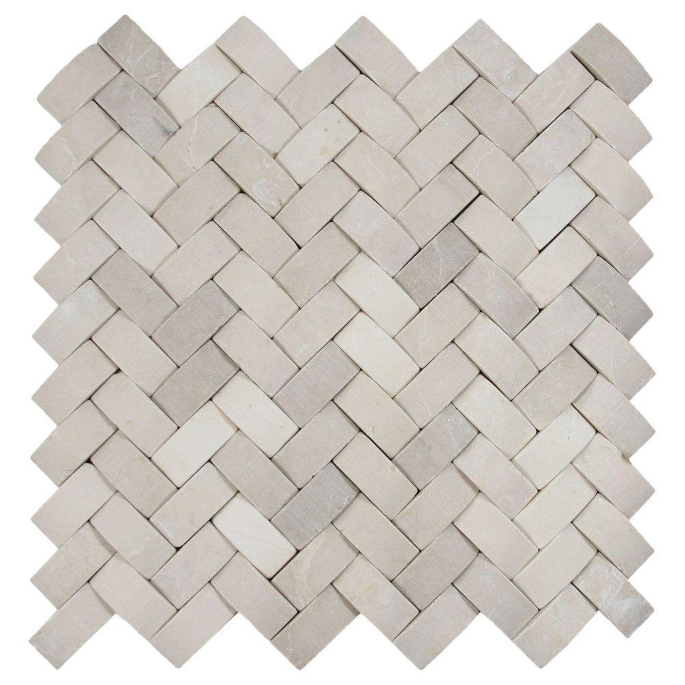 Tan Basket Weave Stone Tile Great