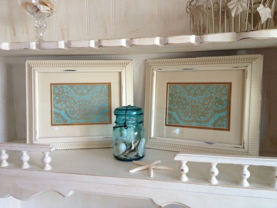 Creamy White Ornate Frames Set of 2 White Beaded by NotJustSigns, $35.99
