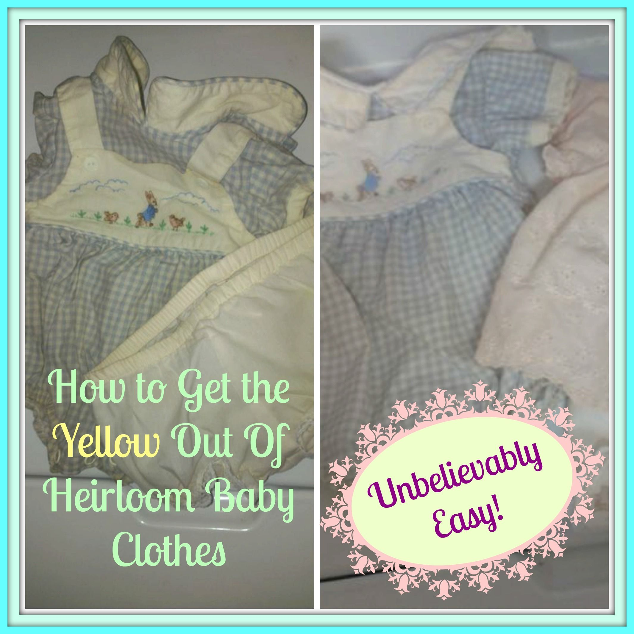 How To Get Yellow Milk Stains Out Of Baby Clothes