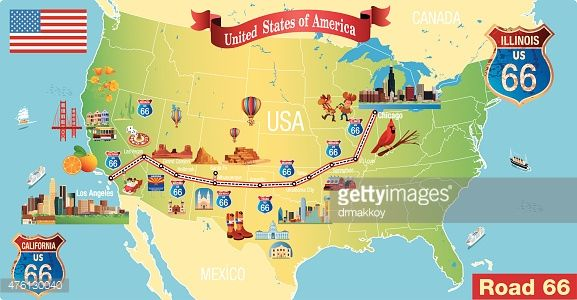 Map Route 66 Map Lets Explorer All World Maps Rt 66 Pinterest - new world map online puzzle
