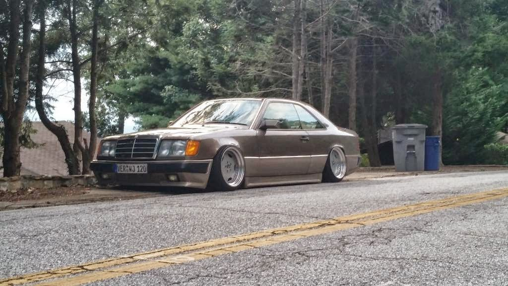 Mercedes Benz W124 Coupe Stance Style On Oz Amg Aero S With