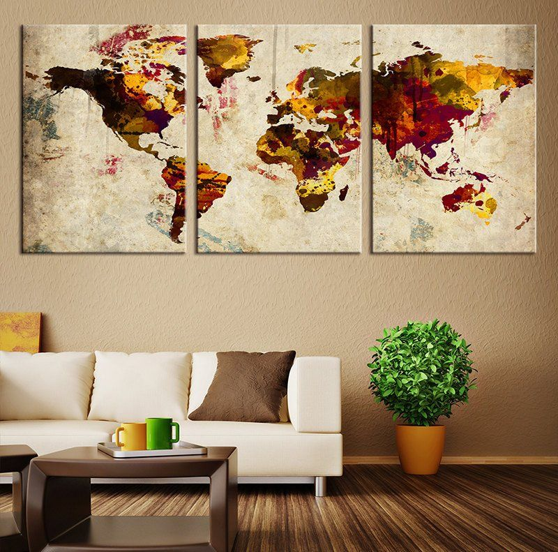 Canvas printing world map canvas art print grunge wall art large canvas printing world map canvas art print grunge wall art world map art extra large world gumiabroncs Image collections