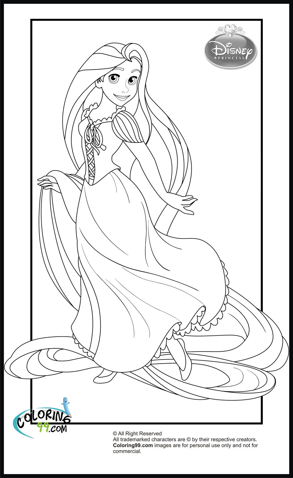 Disney Princess Rapunzel Coloring Pages