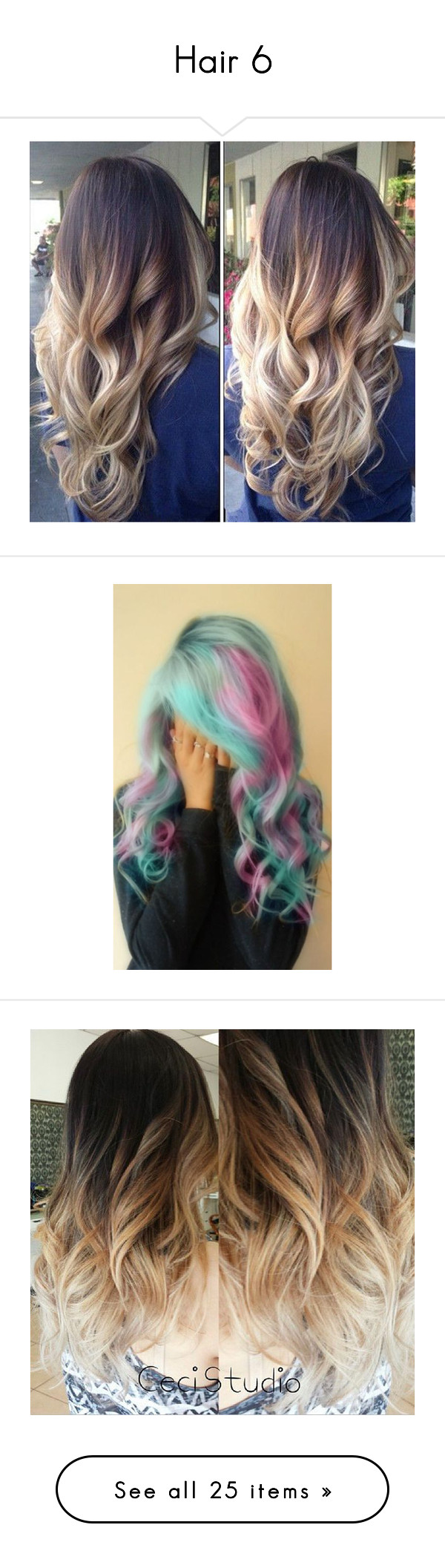 """""""Hair 6"""" by mel-grey-lannister ❤ liked on Polyvore featuring beauty products, haircare, hair color, hair, beauty, hairstyles, lullabies, pictures, cabelos and pink hair"""