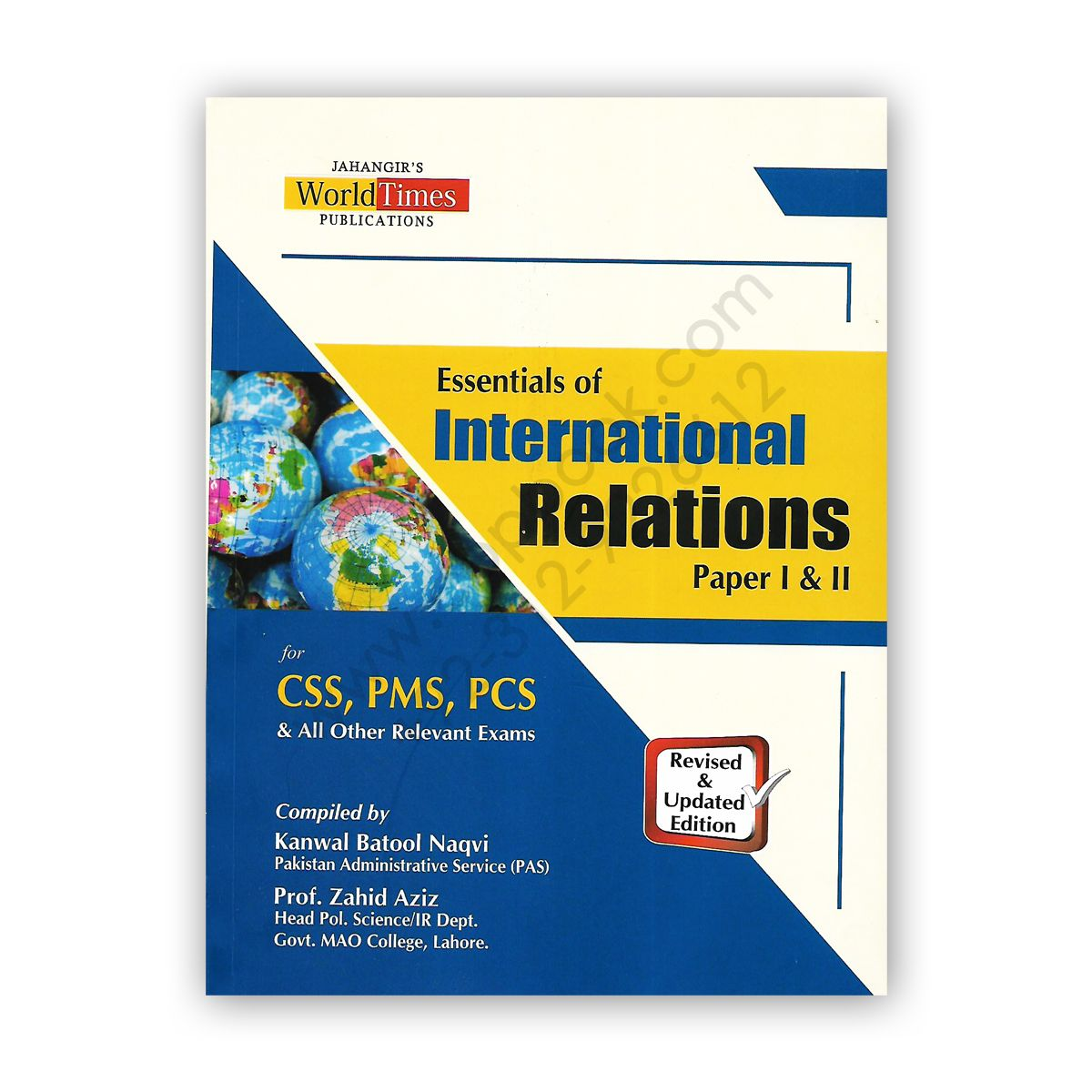 JWT Essentials of INTERNATIONAL RELATIONS Paper 1 & 2 By