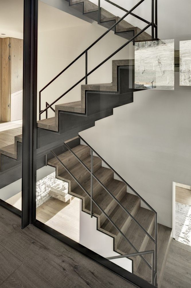 Best Wood And Steel Layered Stairs Projeto De Escada Design 400 x 300