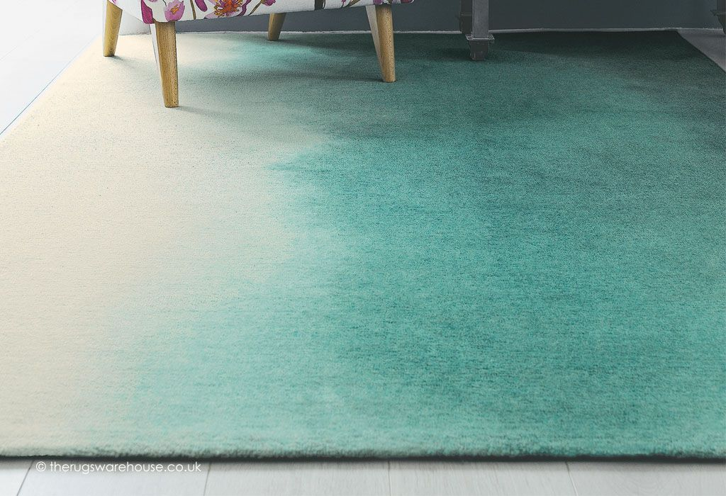 Teal Paintbox Rug Texture Close Up Bluebellgray A Luxurious Wool Rug In Teal Blue Cream Http Www Therugswarehouse Co Uk Tea Rugs Rug Texture Rugs Usa